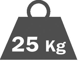 Shelf capacity  25 kg