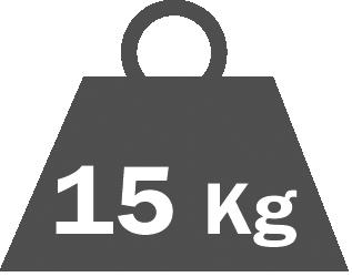 Shelf capacity  15 kg