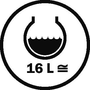 Capacity 16 L