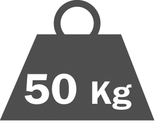 Shelf capacity  50 kg