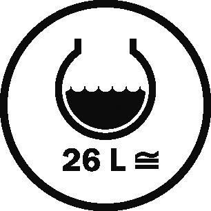 Capacity 26 L