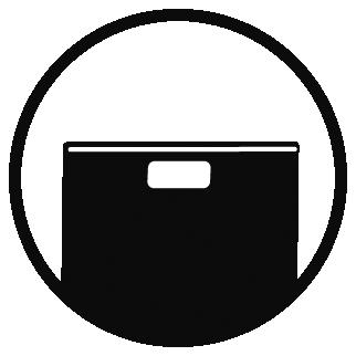 Ergonomically- designed handles: maximum usage comfort